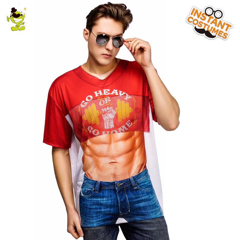 New Arrival 3 D Printing T-shirt Costume New Style Summer Short Sleeve Muscle Tees Cosplay Muscle T-shirts Clothing