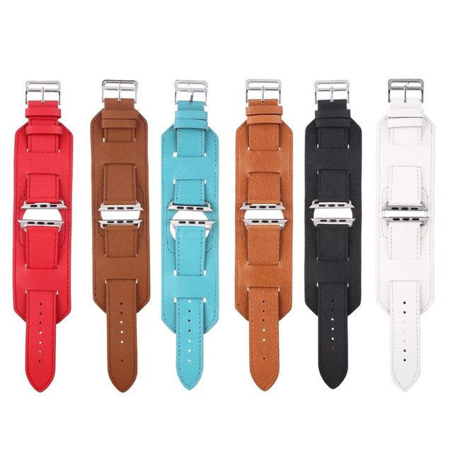 DAHASE Крест Из Натуральной Кожи Браслет-Манжета Ремешок Для Apple Watch Band для Серии 2 iWatch 1-й 2-й Ремешок Для Часов 42 мм 38 мм ж Адаптеры