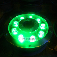 24 В морской катер огни 9 Вт IP68 LED Para Piscina RGB Теплый/netural/холодный Белый и зеленый цвета розовый пруд фонтан бесплатная доставка 10 шт./лот