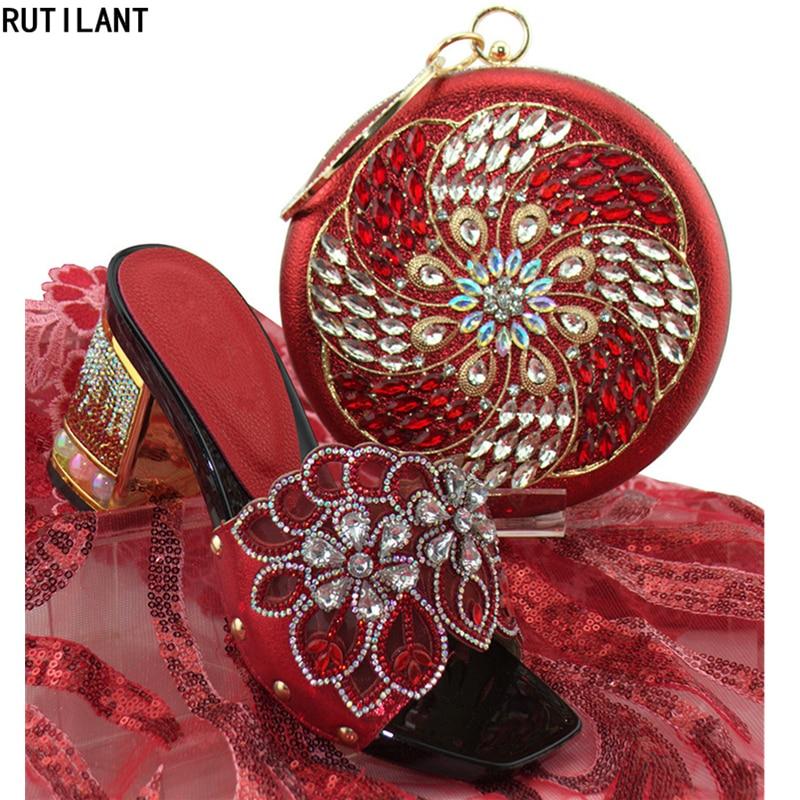 rouge 2018 rose Noir De Des Africain Arrivée bleu pu Ciel Femmes Nouvelle Sac Italien Chaussures or Pour Chaussure Correspondant Ensemble Royal Le Et Mariage 1naYAR