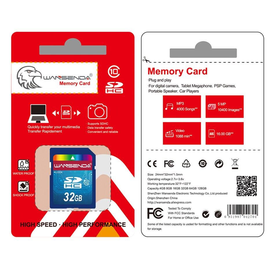 Купить с кэшбэком Hot sale Wansenda Full size SD card 64GB 32GB 16GB SDHC Card SD Card flash Memory Card 8GB 4GB universal for digital camera