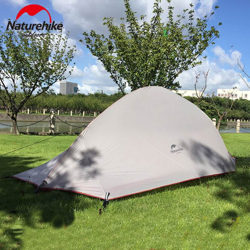 3 Person Outdoor Double Layer Waterproof PU4000 Hiking Tent Aluminum Rod Ultralight Portable Mountain Single Tents With Mat yingtouman outdoor 2 person waterproof double layer tent fiberglass rod portable ultralight camping hikingtents