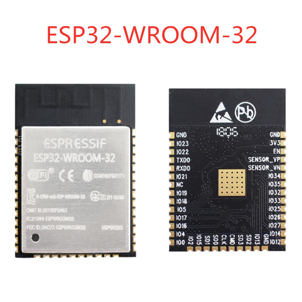 <font><b>10PCS</b></font> <font><b>ESP32</b></font> ESP-WROOM-32 WiFi + Bluetooth 4.2 dual-core CPU MCU low-power 2.4G <font><b>ESP32</b></font>-WROOM-32 4MB /16MB FLASH image