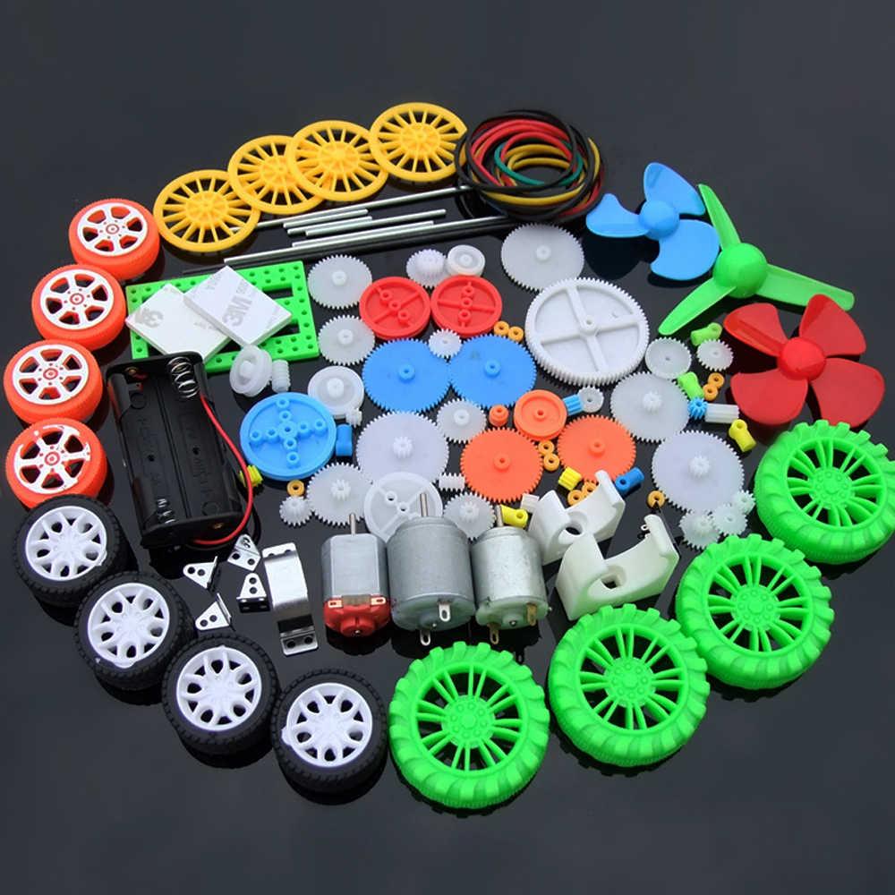 1 conjunto de Multi Plástico do Tipo Engrenagem DC caixa de Velocidades Do Motor DIY Four-wheel dirigir Carro de Brinquedo Auto Robot RC Aviões Modelo Artesanato Reparação kit de ferramentas