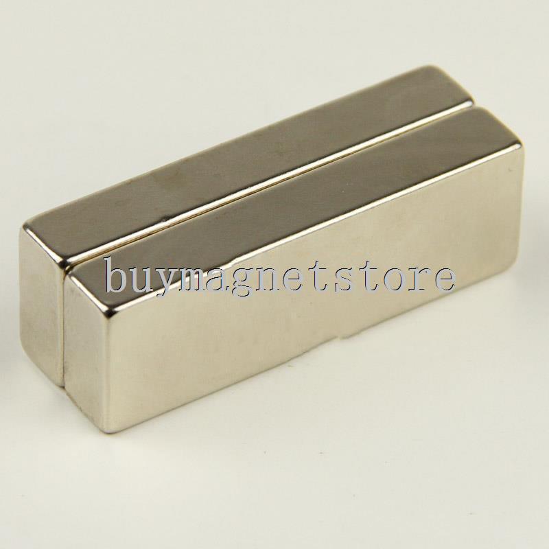 2 pcs x Super Strong Néodyme Bloc 60x20x10mm Aimants n52 Année Rare Earth ndfeb Néodyme aimants