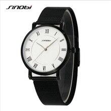 SINOBI Marca de Fábrica Superior de Lujo Para Hombre Relojes Moda Hombres Reloj Masculino Impermeable Ocasional Reloj Chico Reloj de Cuarzo Relogio masculino 9599