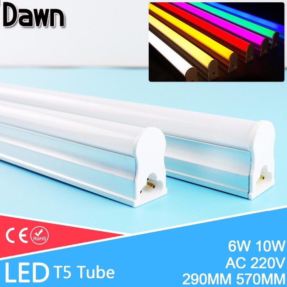 Tubo LED T5 10W 6W lámpara LED T5 220v 240v 600MM 30CM Luz LED iluminación del hogar tubo fluorescente lámpara Bombilla ampolla 110V 220V E27 RGB bombillas de luz led 5W 10W 15W RGB lámpara cambiable colorida RGBW LED lámpara con Control remoto IR + Modo de memoria