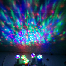 Portable 4W Disco Stage Magic USB Charging RGB Lamp Voice Control Lamp 5 Colors Available for Android Phones(China)