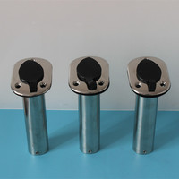 3 Pieces Fishing Rod Holders 15 Degree 75 Degree Marine Boat Yacht Rod Rests
