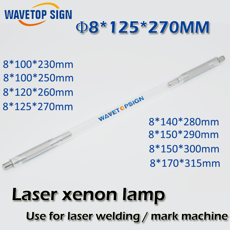 Laser xenon lamp 8*100*230-5  8*100*250-5  8*120*260-5  8*125*270-5 8*140*280-5 Can be customized 100 8