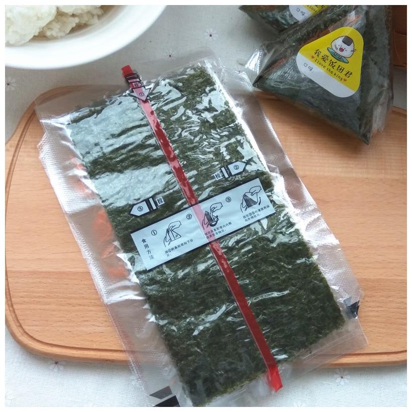 100sheets Sushi Nori Seaweed AAA quality Dark green Nori sushi alge top selling nori sushi onigiri nori in Sushi Tools from Home Garden