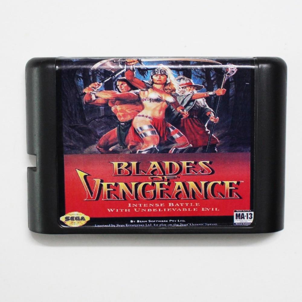 Blades Of vengeance 16 bit MD Game Card For Sega Mega Drive For Genesis