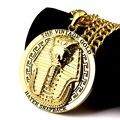 NYUK Novo Egito Vintage Charme Colar Faraó Rei Homens Hip Hop Ouro/Prata Egito Faraós Colares & Pingentes Para homens/Mulheres
