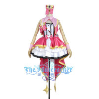 Cinderella Girls The Idolmaster 2 Shimamura Uzuki Stage Cosplay Costume Custom Made Sexy Women Socks Sleeveless Rose Red Dress