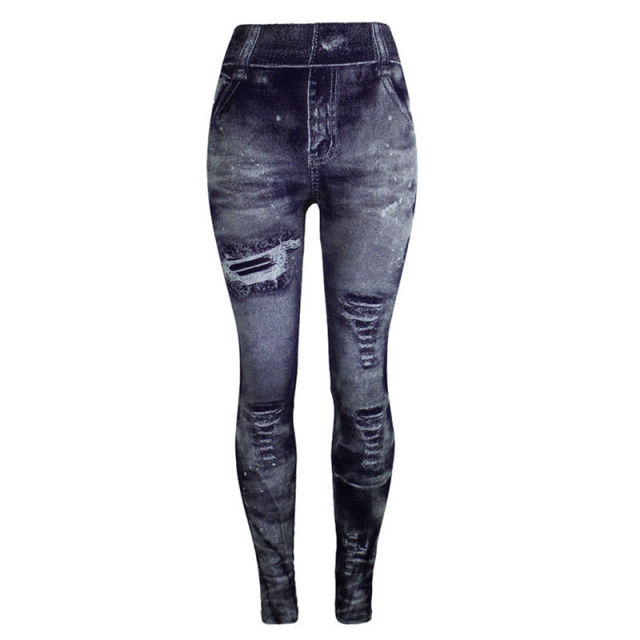 Jeans Bottom Pants Coloured Hip-up Super Bomb Slim Nine-minute Pants Tight Elasticity Pants Pantalones Mujer 2