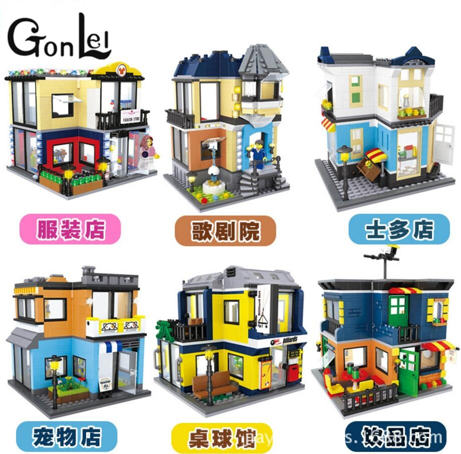 GonLeI Single Sale Mini Street Scene Retail Store Architectures DOLL Educational Building Blocks Model  toys for children Lepin hot sale 1000g dynamic amazing diy educational toys no mess indoor magic play sand children toys mars space sand