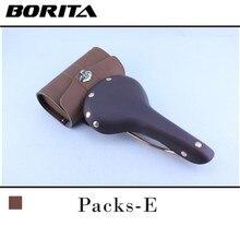 Borita vintage car cowhide cushion bs06cu small cowhide bag bg03 brown mountain bike saddle