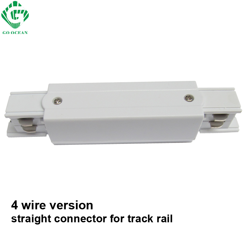 GO OCEAN 3 Phase Circuit Straight Connectors 4 Wire Rail Connector Global Track System Middle Feed