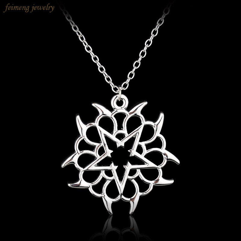 Free Shipping New Fashion Rock Band Black Veil Brides Rock Music BVB Logo Pendant Necklace Silver Women And Men Jewellery