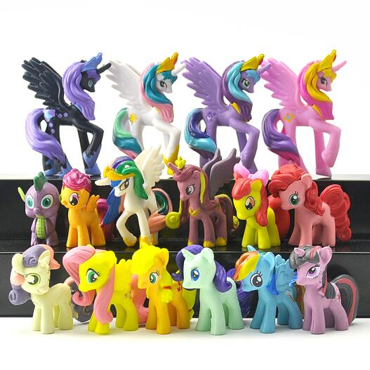 Unicorn Pets Horse Twilight Sparkle Princess Celestia Luna Action Toy Figures Christmas Little Gift