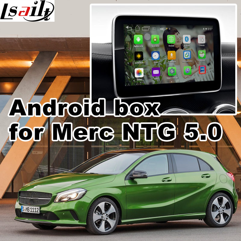 Android 6.0 GPS navigation box video interface for Mercedes benz A class W176 NTG 5.0 Au ...