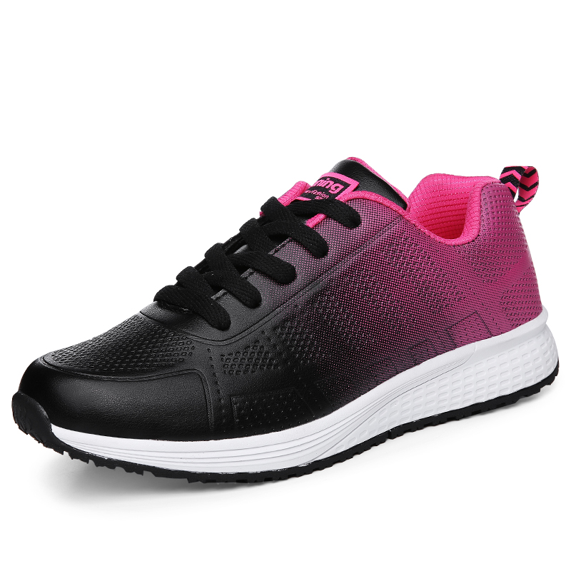 2019 New Women Tennis Shoes Comfortable Athletic Sneakers Women Lightweight Sports Shoes Breathable Mesh Gym Fitness Trainers