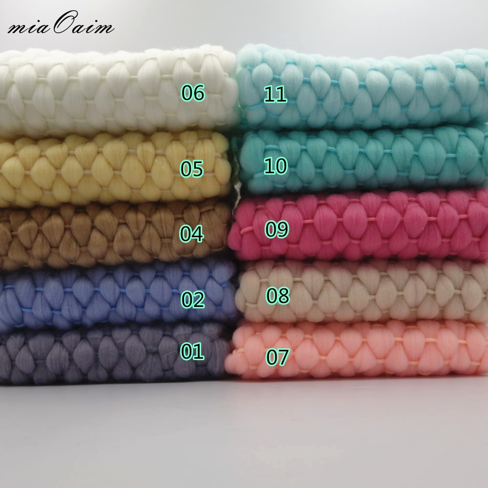 5pcs/lot 45x40cm Handmade Acrylic Blanket Basket Stuffer Filler Newborn Baby Photograf Backdrops Photo Studio Props Shower Gift