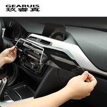 Автомобильный Стайлинг, передняя вентиляционная панель, Центральная крышка, наклейки, Накладка для BMW 3, 4 серии, 3GT, F30, F32, F34, аксессуары для салона автомобиля