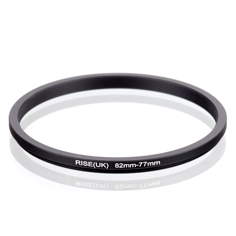 RISE(UK) 82mm 77mm 82 77mm 82 to 77 Step down Ring Filter Adapter black-in Lens Adapter from Consumer Electronics