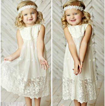 2018 Girl's lace birthday party dress , children wedding dress for girls , dress for girls,6pcs/lot  LZS05