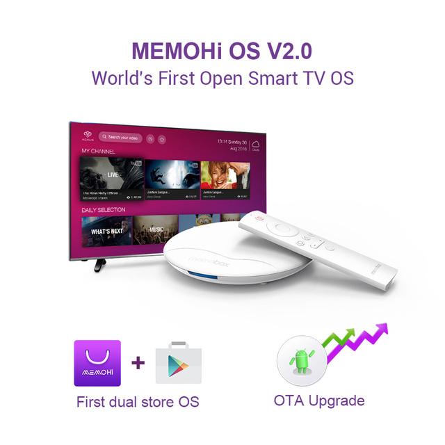 MEMOHI MEMOBOX UFO Pro Android 6.0 Smart TV Box Amlogic Quad Core 64bits IPTV with OTA update BT4.0 UHD 4K 4K Media Player