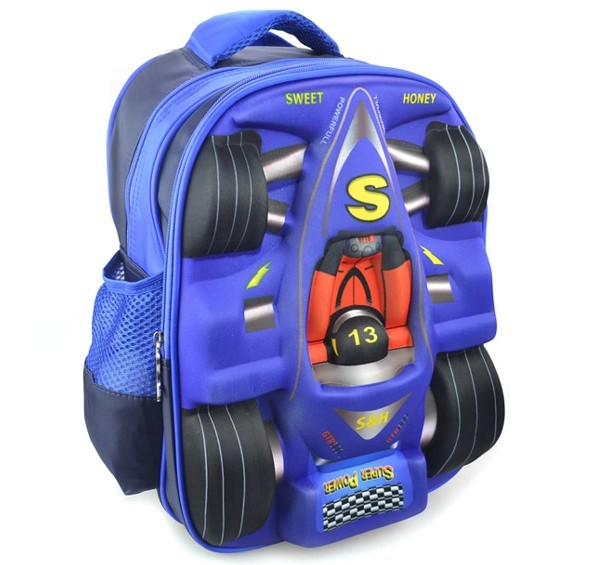 New Kids Boys Girls 3D Racing Car Shape Backpack Children School Bag Small Bags Students Backpacks Free Shipping In From Luggage