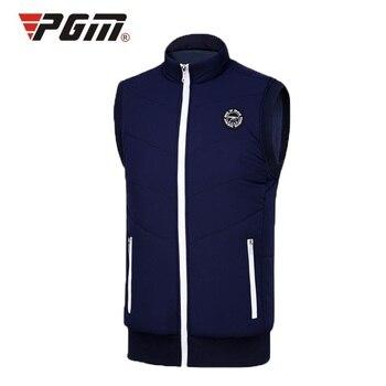 Pgm Golf Waistcoat For Man Windproof Keep Warm Thicken Jacket Man's Sleeveless Sports Jacket Vest Autumn Golf Jackets D0510