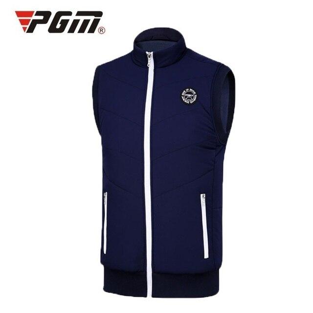 Pgm жилет для гольфа для мужчин ветрозащитный Утепленная одежда толстая куртка для мужчин; одежда без рукавов в стиле Спортивная куртка коллекция жилеток, Сезон: Осень, для игры в гольф куртки D0510