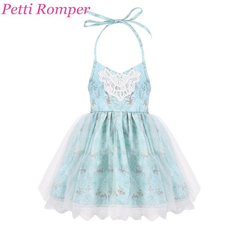 90633c2c77 2018 New Moda Dla Dzieci Lato Jesień Koronki Backless Floral Dress Drukuj  Halter Tulle Suknie Księżniczka 2-6 T Dziecko dziewczyna Ubrania