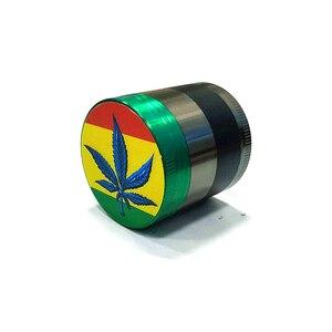 Minipicadora de hierba de hoja de 4 piezas, máquina de tabaco para fumar hierba, picadora de mano para pipa de agua Hookah Shisha, diámetro de 40mm, envío directo