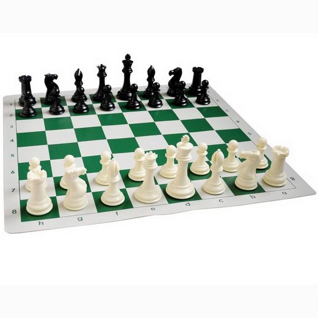 Vert 51cm vinyle tournoi échiquier pour les jeux éducatifs pour enfants tableau magnétique pour les échecs 5
