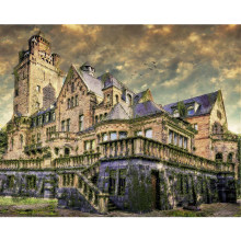 "DUTEY 5D DIY Full square diamond painting ""A old castle"" 3d diamond embroidery cross stitch rhinestone mosaic home decor(China)"