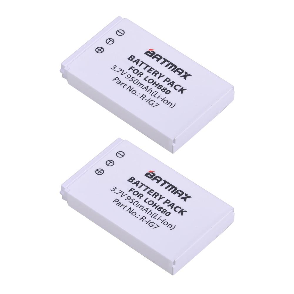 2Pcs 3 7V 950mAh Batteries for Logitech Harmony One 900 720 850 880 885 890 Pro