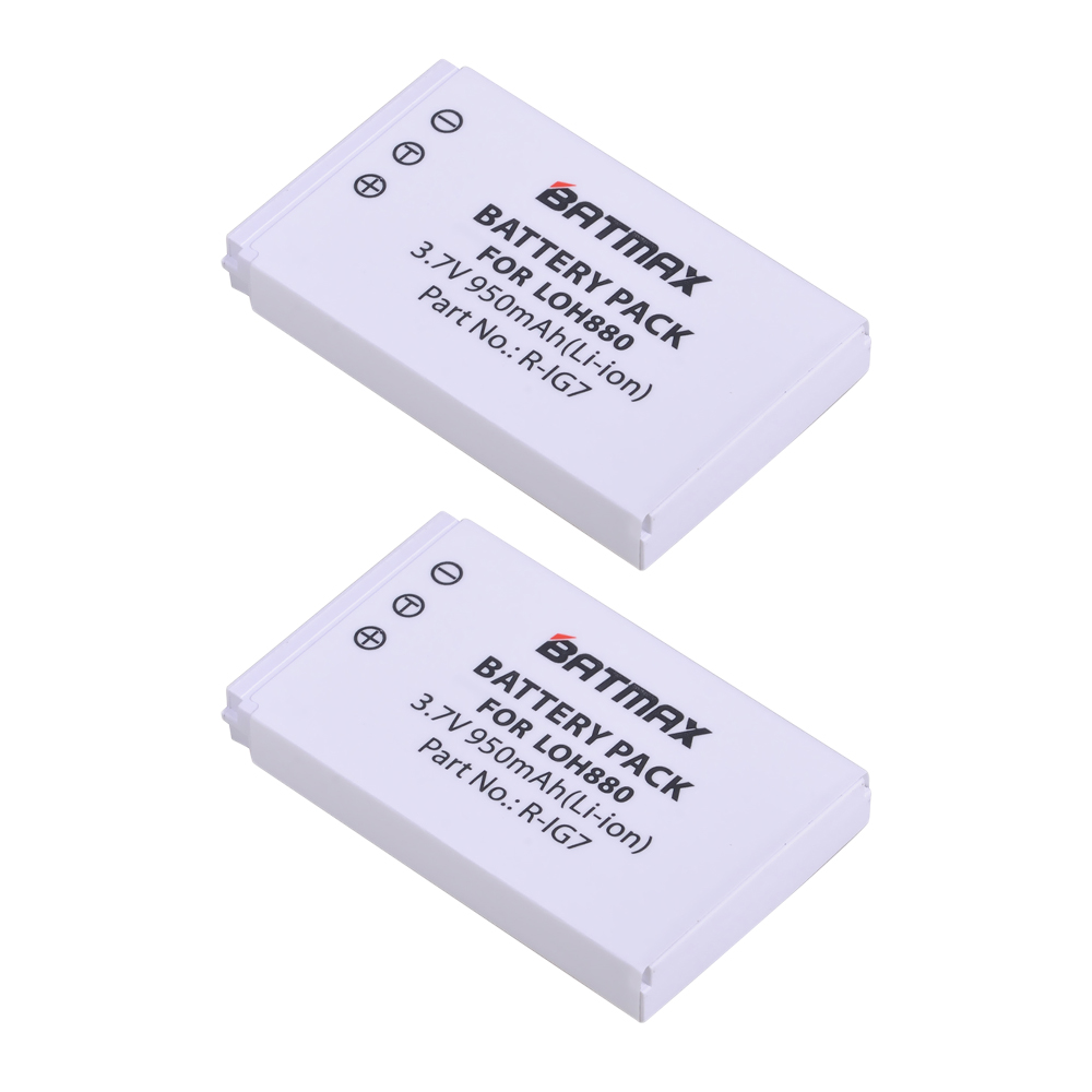 2Pcs <font><b>3.7V</b></font> <font><b>950mAh</b></font> <font><b>Batteries</b></font> for Logitech Harmony One, 900, 720, 850, 880, 885, 890 Pro, H880 Universal Remote image