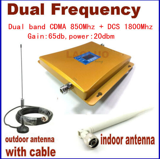Newest DCS CDMA LCD Signal booster 4G DCS 1800 CDMA 850 Mobile Phone Booster Amplifier Cell