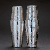 Free Shipping New Style Engraving Designs Boston Cocktail Shaker Tin Set 800ml & 500ml