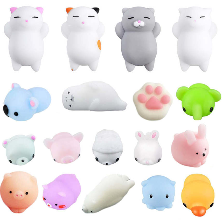 Tireless 18pc Mini Cute Squeeze Funny Toy Soft Stress And Anxiety Relief Toys Kawaii Diy Decor Y* Elegant In Smell Welding Helmets