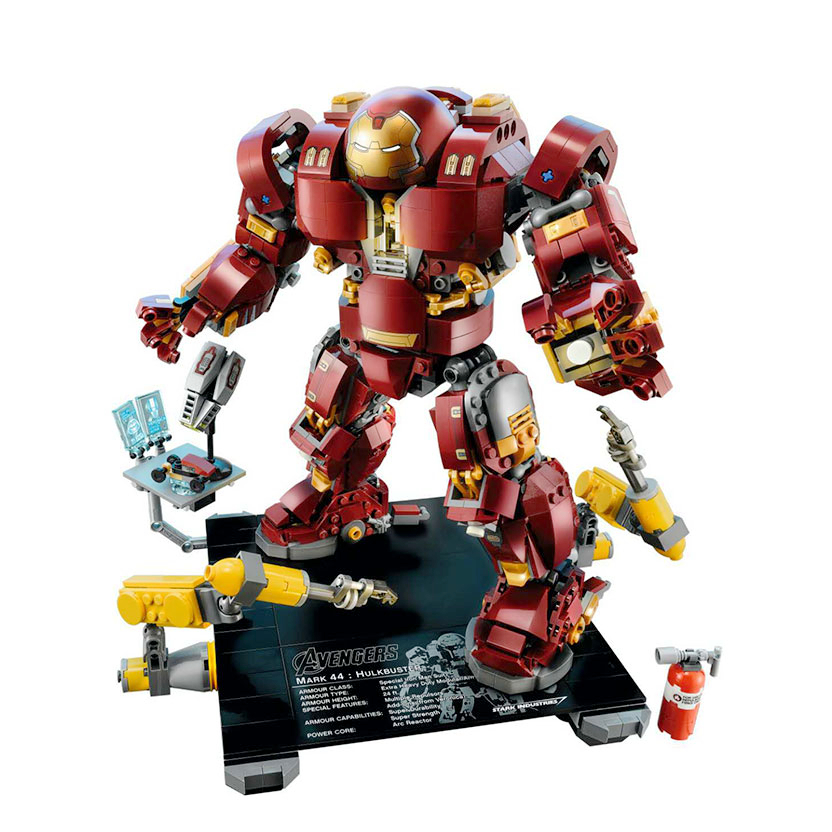 Iron Man Hulkbuster 76105 Marvel Ironman Avengers Super Heroes Model Building Blocks Boys Birthday Gifts Children