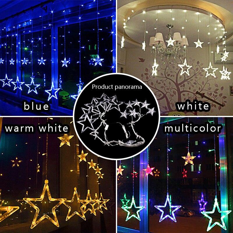 138 Leds Bulbs Romantic Stars Modelling LED Xmas Optical String Flashing Light Christmas Shinning String Leds 4 Different Types