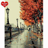 Frameless Picture Painting By Numbers Digital Oil Painting On Canvas Home Decoration DIY Painting Romantic Autumn