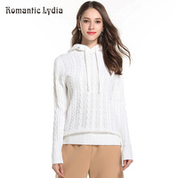 Women White Sweater 2018 Winter Outerwear Female Jumpers Cotton Pullover Ladies Long Sleeve Knitted Hooded Sweaters