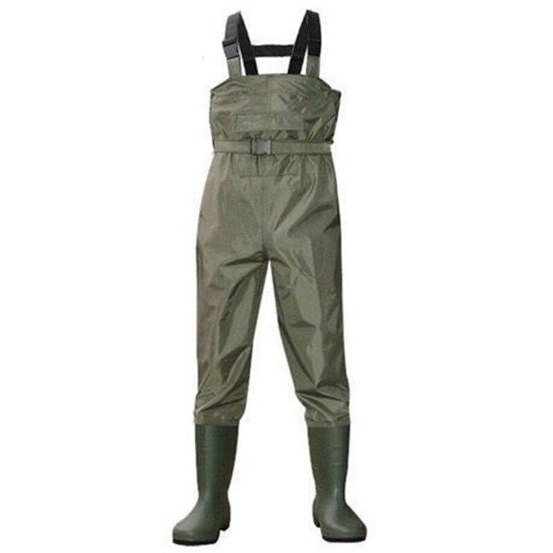 Eu38-47 en plein air imperméable pêche pataugeoire PVC pantalon respirant bottes Camo 3 couches hommes femmes cuissardes agriculture salopette pantalon