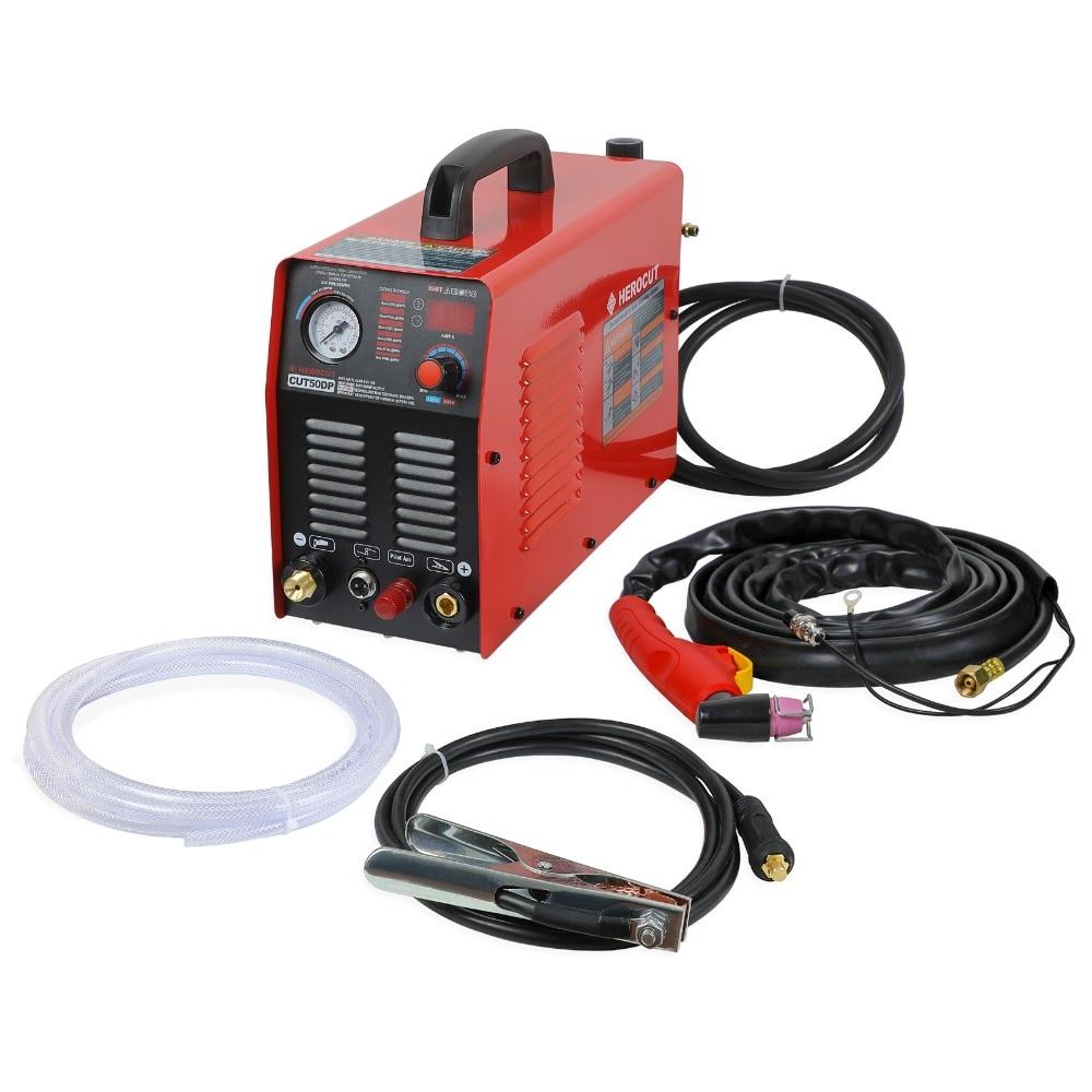 IGBT Arc Pilote Cut50DP Double Tension 190 V-250 V Plasma Cutter Arcsonic HeroCut Plasma machine de découpe