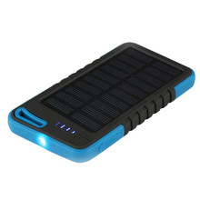 Waterproof Shockproof Powerbank Battery Travel Outdoor External Charger for SmartPhone 5000mAh Solar  USB Charger Power Bank 1pc